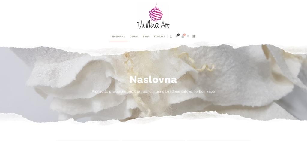 Vunena web shop